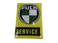 Blechschild Puch Service gelb