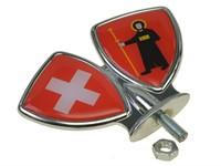 Schutzblech-Emblem / Zierwappen Glarus