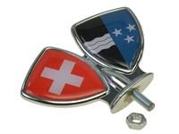 Schutzblech-Emblem / Zierwappen Aargau