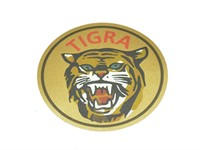 Aufkleber Tigra Ø 50 mm (Augen Grün)