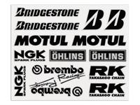 Aufkleber-Set Sponsorkit Brembo, 24x18 cm
