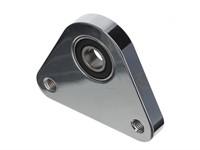 Dreieck-Lagerplatte, Lagerflansch aluminium gefräst, Piaggio Ciao/SI/Bravo, chrom eloxiert
