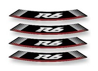Felgen-Aufkleber-Set R6 weiss-rot-schwarz 8 Stk.