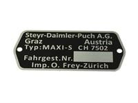 Typenschild Puch Maxi S CH7502