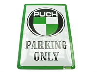 Blechschild Puch Parking Only