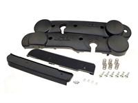Seitenschutz-Kit schwarz inkl. Schrauben u. Trittbrett, Piaggio SI