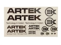 Aufkleberset ARTEK 24stk. weiss /transparent (440x230mm)