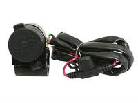 USB Doppel-Steckdose für Lenkermontage