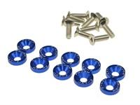 Senkkopfschrauben Blau M6 × 15mm 10stk.