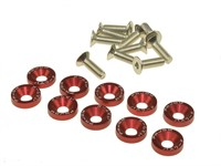 Senkkopfschrauben Rot M6 × 15mm 10stk.