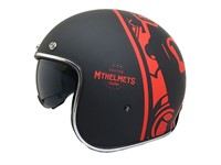 Jethelm Le Mans Divenire schwarz / rot matt, Grösse XL