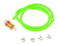 Benzinschlauch &  Benzinfilter Ø=5mm, Neon Grün