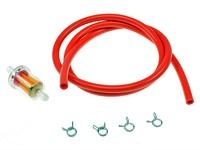 Benzinschlauch & Benzinfilter Ø=5mm, Rot