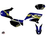 Stickerset / Dekor-Kit Flow blau/gelb, Yamaha 50 DT 2007 bis 2011