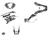 Kit déco stickers Predator blanc, moto 50cc Yamaha DT 50 / MBK X-Limit 2007 à 2011