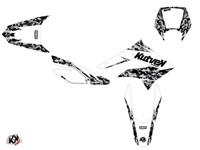 Sitckerset / Dekor-Kit Predator weiss, Derbi 50cc DRD X-Trem 2010 bis 2017