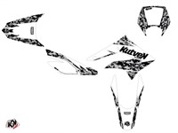Kit déco stickers Predator blanc, moto Derbi 50 DRD X-Trem 2010 à 2017