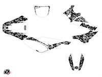 Kit déco stickers Predator blanc, moto Derbi 50 X-Trem, X-Race 2005 à 2009
