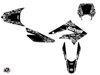 Sitckerset / Dekor-Kit Predator schwarz, Derbi 50cc DRD X-Trem 2010 bis 2017