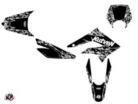 Kit déco stickers Predator noir , moto 50cc Derbi DRD X-Trem 2010 à 2017