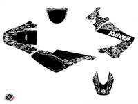 Kit déco stickers Predator noir, moto 50cc Derbi X-Trem, X-Race 2005 à 2009