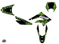 Sitckerset / Dekor-Kit Predator grün/schwarz, Derbi 50cc DRD X-Trem 2010 bis 2017