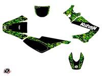 Dekor-Kit Predator schwarz/grün, Derbi 50cc X-Trem, X-Race 2005 bis 2009