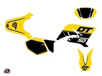 Stickerset / Dekor-Kit gelb vintage, Yamaha DT 50 2007-2011