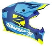 Helm Cross Swaps - S818 blau/gelb matt (Grösse XL)