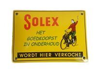 Pancarte vintage SOLEX, jaune 10x14cm
