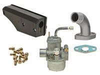 Vergaser Bing 15mm, Set inkl. Stutzen kurz und Racing Luftfilter zu Sachs 503