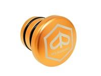 Bouchon de réservoir dessence alu orange rond (logo Piaggio), vélomoteurs Piaggio Ciao