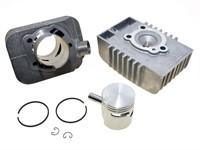 Zylinder-Kit Polini 43mm Sport, Ø 65cc Guss, inkl. Zylinderkopf, Piaggio Si, 10mm Kolbenbolzen
