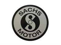 Emblème SACHS Ø 48 noir (pour boucher le trou du compteur)