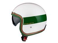 Casque JET ouvert blanc, rouge, vert, Taille : XL