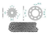 Kettenkit 14 x 53 / 420 ohne O-Ring (K2860) Stahl