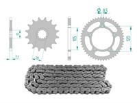 Kettenkit 13 x 51 / 420 ohne O-Ring (K3492) Stahl