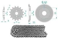 Kettenkit 12 x 53 / 420 ohne O-Ring (K1380) Stahl