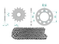 Kettenkit 12 x 52 / 420 ohne O-Ring (K3894) Stahl