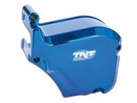 Abdeckung Ölpumpe Derbi >2006 blau eloxiert (Piaggio Motor)