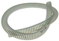 Kühlwasserschlauch Motoforce, transparent, mit Stahlspirale, Ø=9 x15mm, 1 Meter