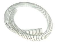 Kühlwasserschlauch Motoforce, transparent, mit Stahlspirale, Ø=12x18mm, (Piaggio Motor), 1 Meter