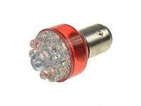 Rücklichtbirne rot (2 Kontakte) LED 12V 21/5W BAY15D