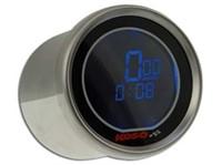 Drehzahlmesser KOSO black LCD mit 2 x Temperaturmesser, Uhr Ø 55x57mm