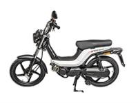 Bye Bike Retro Mofa, perlweiss, lange Sitzbank