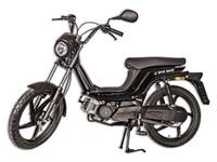 Bye Bike Retro Mofa, schwarz glanz, lange Sitzbank