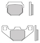 Bremsbeläge Galfer Semi-Metall 47.4 x 37.0 x 6.4 mm/85.0 x 42.1 x 7.8 mm
