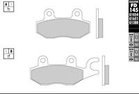Bremsbelag Galfer Sinter-Scooter (Paar), 77.4 x 42.3 x 9.2 mm/98.8 x 42.3 x 9.2