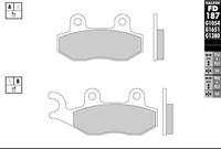 Bremsbelag Galfer Sinter-Scooter (Paar) 77.4 x 42.3 x 9.0 mm/98.8 x 42.3 x 9.0 mm