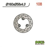 Bremsscheibe NG 160/58/4mm 3 Loch